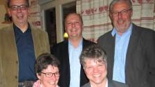 sitzend (v.l.) Friederike Vogel, Tillman Wahlefeld stehend (v.L.) Lothar Poguntke, Andreas Schalk, Jochen Knittel